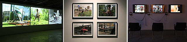 Roadside Attractions, installation views, PAVED Art, Saskatoon, SK, August, 2011
