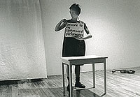 At Dare-Dare in April 2000 as part of my process-based solo exhibition