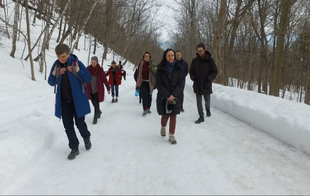 Victoria's group walk during a day of reflection on Resting, Walking, Place-Making, March 2018
