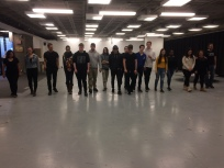 Workshop on intervention practices in public space with Brett's class, February, 2018