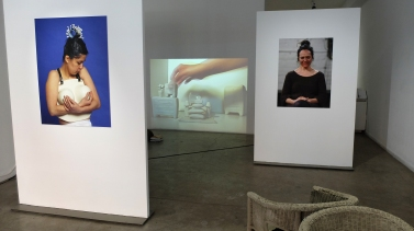 expo detail: performance photos (seen alongside Helena Martin Franco's work)